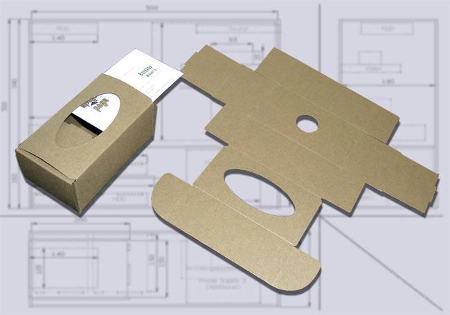 Картонная коробка для визиток